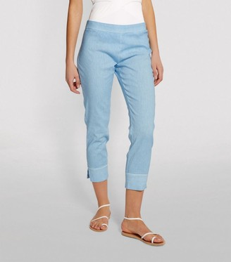 120% Lino Capri Stretch Trousers
