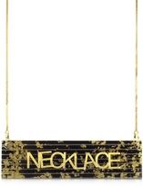 MM6 Maison Martin Margiela Black & Gold Resin Necklace