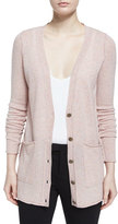 ATM Anthony Thomas Melillo Cashmere V-Neck Donegal Cardigan, Ginger