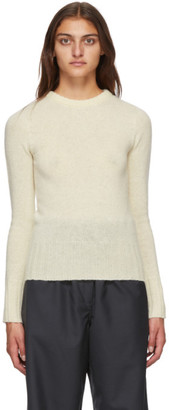 Lemaire Off-White Wool Fitted Sweater