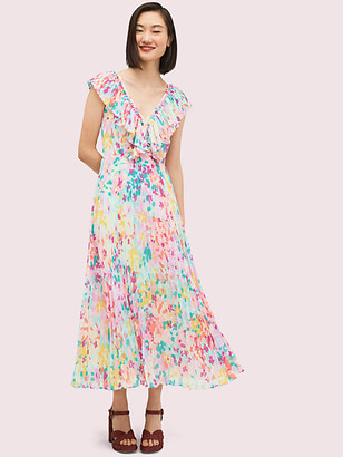 Kate Spade Painted Petals Pleated Dress