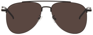 Saint Laurent Black SL 392 Wire Aviator Sunglasses