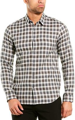 Theory Betton Check Woven Shirt