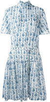 Jil Sander Navy short sleeve midi dress - women - Cotton - 34
