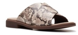 Clarks Collection Women's Declan Ivy Flat Sandals Women's Shoes