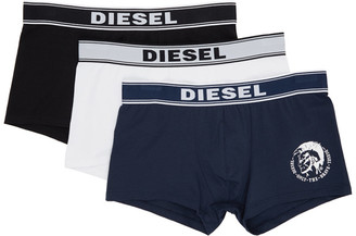 Diesel Three-Pack Multicolor UMBX Damien Boxer Briefs