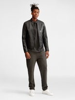 DKNY Buffalo Leather Moto Jacket