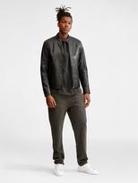 DKNY Buffalo Leather Moto Jacket