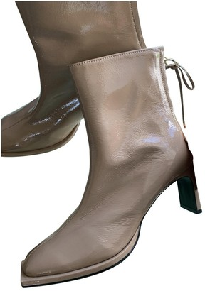 Reike Nen Beige Patent leather Ankle boots