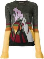 Marco De Vincenzo glitter mountain print sweater