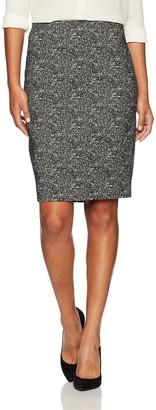 Kasper Women's Woven Jacquard Slim Skirt