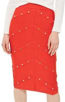 Topshop Bandage Stud Midi Skirt