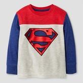 Superman Toddler Boys' Long Sleeve T-Shirt - Ecru