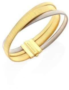 Marco Bicego Masai 18K Yellow& White Gold Three-Strand Bracelet