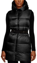 Moncler Glykeria Belted Long Down Vest