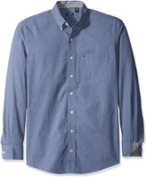 Izod Men's Big and Tall Long Sleeve Solid Essential Woven