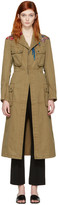 Valentino Green Embroidered Army Coat