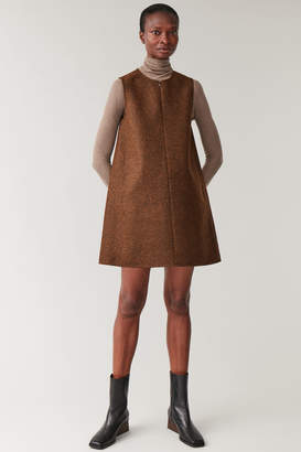 Cos WOOL-MIX VEST DRESS