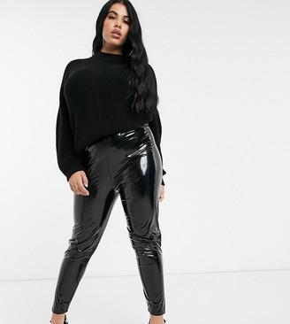ASOS DESIGN Curve vinyl legging