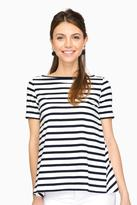 Demy Lee Patti Striped Sonora Short Sleeve Top