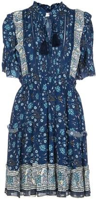 Sea tassel-detail mini dress