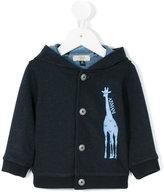Armani Junior giraffe print cardigan - kids - Cotton/Polyester - 6 mth