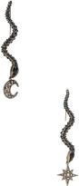 Roberto Cavalli Star & Moon Earrings