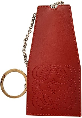 Loewe Red Leather Bag charms
