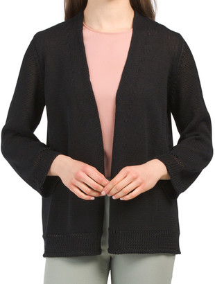 Made In Italy Linen Blend Cardigan