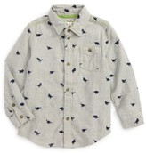 Hatley Boy's Dino Embroidered Flannel Shirt