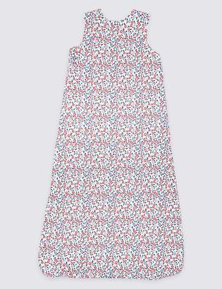Marks and Spencer Organic Pure Cotton 1.5 Tog Floral Sleeping Bag