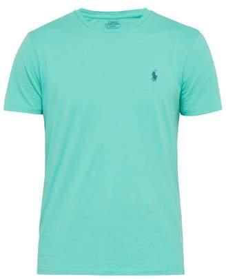 Polo Ralph Lauren Logo-embroidered Cotton-jersey T-shirt - Mens - Green