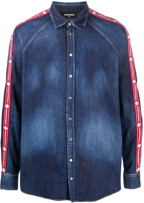 DSQUARED2 Side-Stripe Denim Shirt