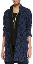 Caroline Rose Renaissance Wool Knit Jacquard Jacket, Plus Size