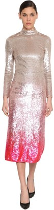 Temperley London Degrade Sequined Stretch Tulle Dress