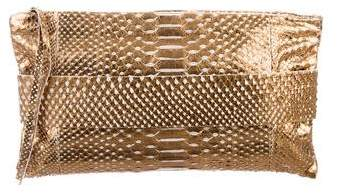 Devi Kroell Metallic Python Clutch