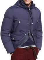 Brunello Cucinelli Quilted Nylon Down Jacket, Cobalt
