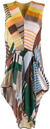 Rick Owens colour blocked sleeveless dress