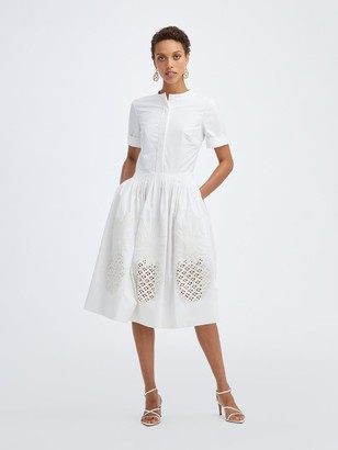 Oscar de la Renta Pineapple Poplin Dress
