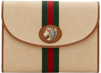 Gucci Beige Rajah Canvas Pouch
