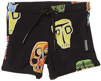 Nununu Rowdy Masks Swim Shorts (Infant/Toddler/Little Kids/Big Kids) (Colorful Black) Boy's Swimwear