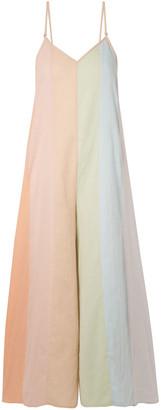 Mara Hoffman Carly Color-block Organic Cotton-voile Jumpsuit