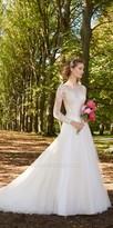 Camille La Vie Illusion Lace Long Sleeve Wedding Dress