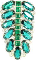 One Kings Lane Vintage Eisenberg Emerald Crystal Clip Brooch