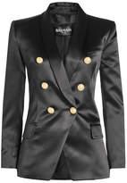 Balmain Silk Blazer with Embossed Buttons