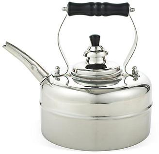 One Kings Lane 3 Qt Windsor Whistling Teakettle - Silver - kettle, silver; handle, black