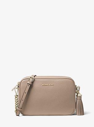 MICHAEL Michael Kors MK Ginny Medium Pebbled Leather Crossbody Bag - Truffle - Michael Kors