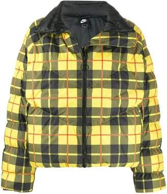 Nike checked padded jacket