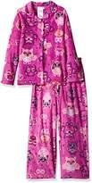 Komar Kids Big Girls' Owl Star Coat Style Sleepwear Set
