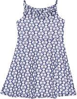 Florence Eiseman Floral-Print Chiffon Dress, Size 7-14